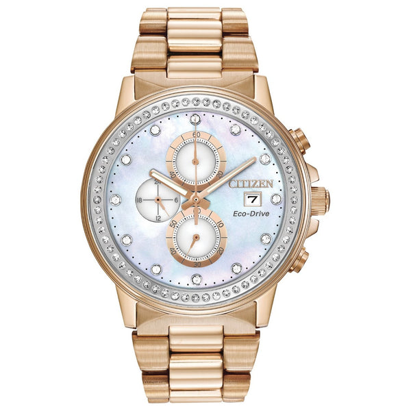 Citizen Men's FB3003-51Y 'Chandler' Chronograph Rose Gold-Tone Stainless Steel Watch