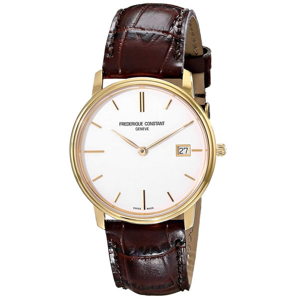 Frederique Constant Women's FC-220NW4S5 'Slimline' Brown Leather Watch