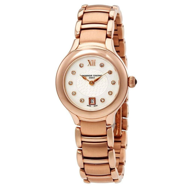 Frederique Constant Women's FC-220WHD2ER4B 'Delight' Diamond Rose-Tone Stainless Steel Watch