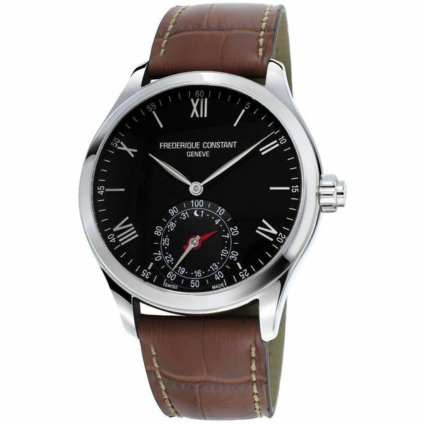 Frederique Constant Men's FC-285B5B6 'Horological Smartwatch' Brown Leather Watch