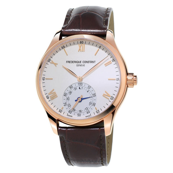 Frederique Constant Men's FC-285V5B4 'Horological Smartwatch' Brown Leather Watch