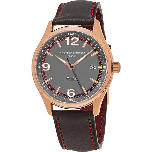 Frederique Constant Men's FC-303GBRH5B4 'Vintage Rally' Grey Leather Watch