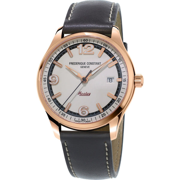 Frederique Constant Men's FC-303WGH5B4 'Vintage Rally' Grey Leather Watch
