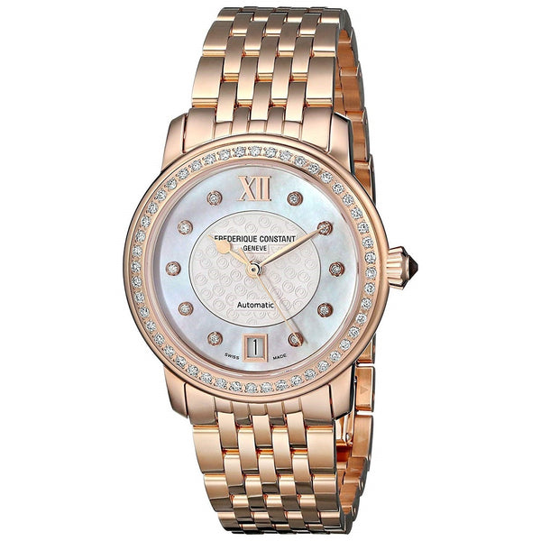Frederique Constant Women's FC-303WHF2PD4B3 'World Heart Federation' Diamond Rose-Tone Stainless Steel Watch