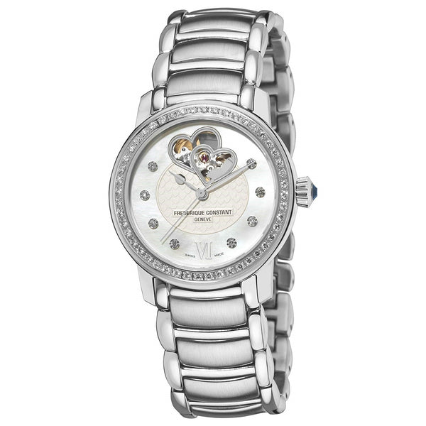 Frederique Constant Women's FC-310DHB2PD6B 'Carree' Diamond Stainless Steel Watch