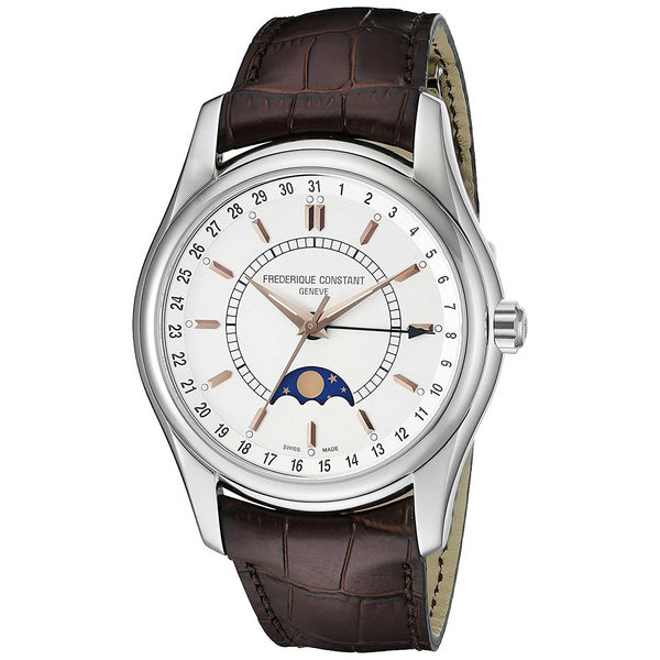 Frederique Constant Men's FC-330V6B6 'Index' Brown Leather Watch
