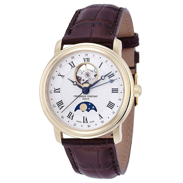 Frederique Constant Men's FC-335MC4P5 'Classics' Moonphase Automatic Brown Leather Watch