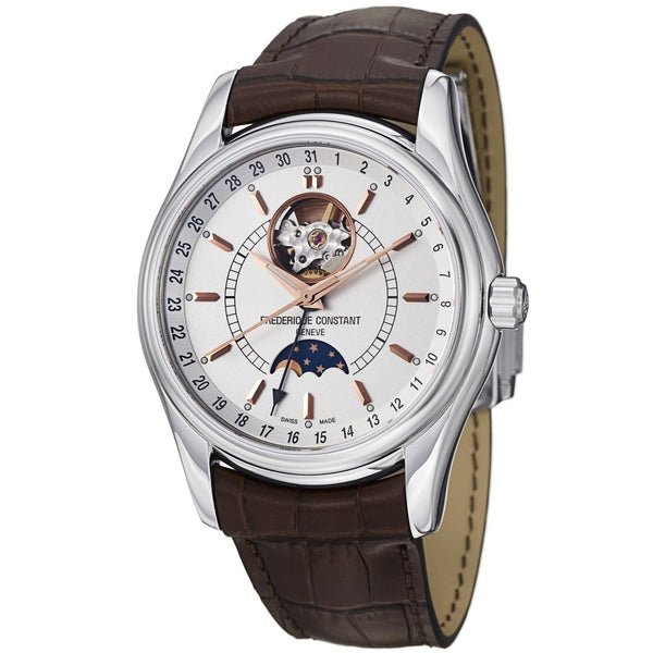 Frederique Constant Men's FC-335V6B6 'Index' Brown Leather Watch