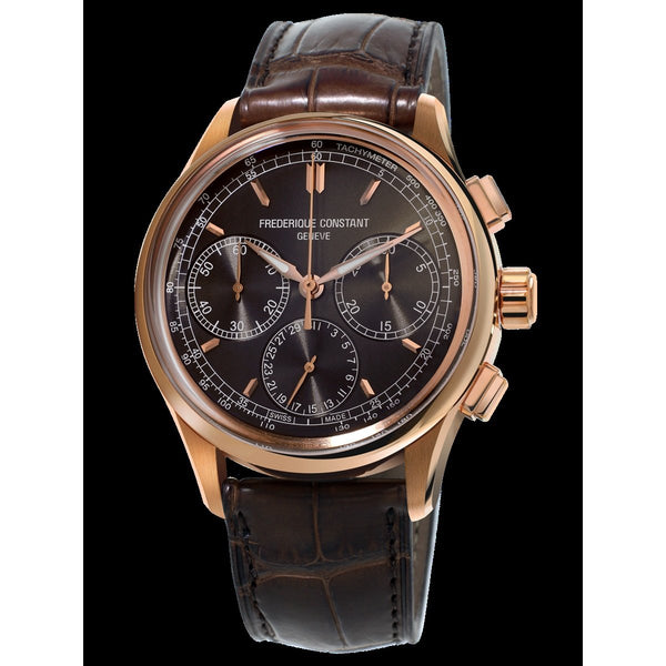 Frederique Constant Men's FC-760DG4H4 'Manufacture' Chronograph Brown Leather Watch