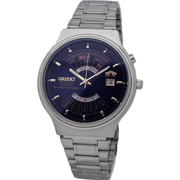 Orient Men's FEU00002DW 'Multi Year Calendar' Stainless Steel Watch