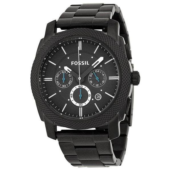 Fossil Men's FS4552 'Machine' Chronograph Black Stainless Steel Watch