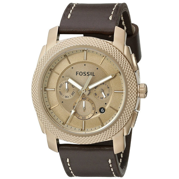 Fossil Men's FS5075 'Machine' Chronograph Brown Leather Watch