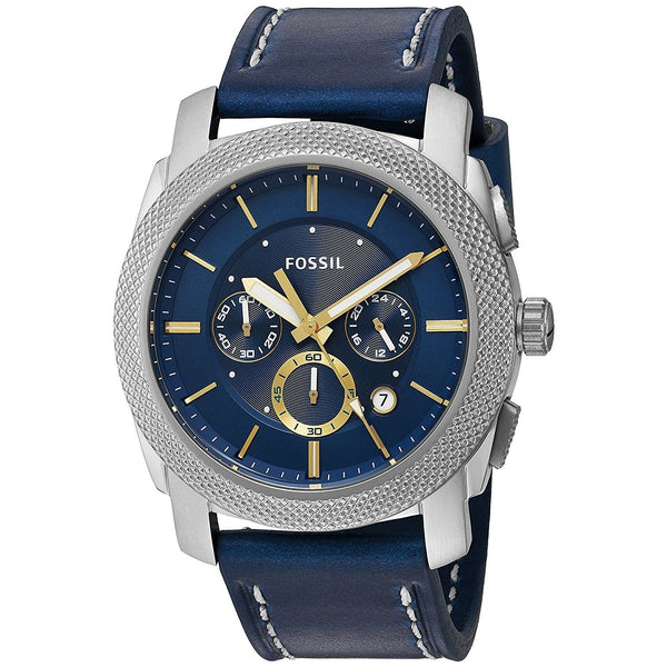 Fossil Men's FS5262 'Machine' Chronograph Blue Leather Watch