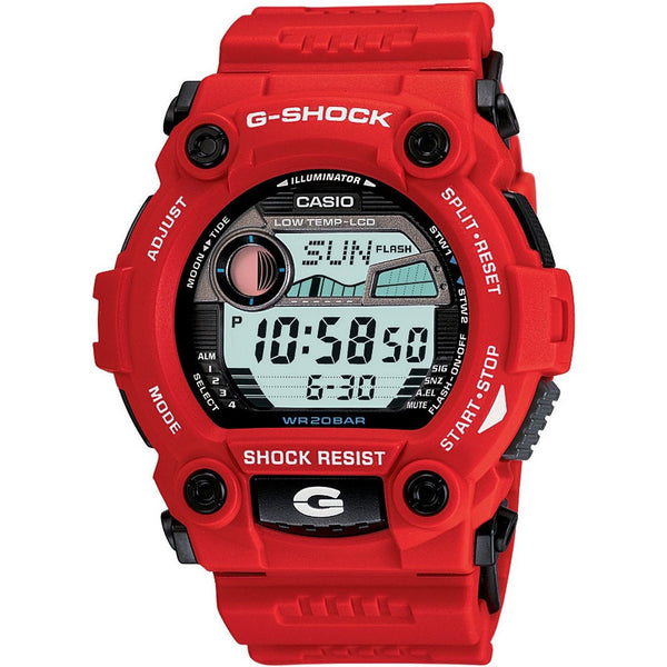 Casio Men's G7900A-4 'G-Shock Rescue' Digital Red and Blue Resin Watch