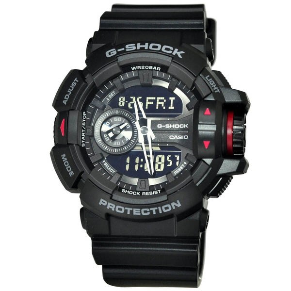 Casio Men's GA400-1B 'G-Shock' Chronograph Black Resin Watch