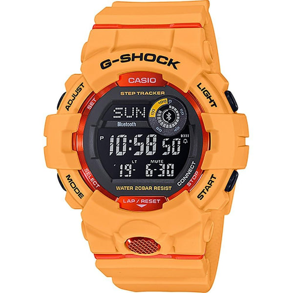 Casio Men's GBD800-4 'G-Shock' Yellow Resin Watch