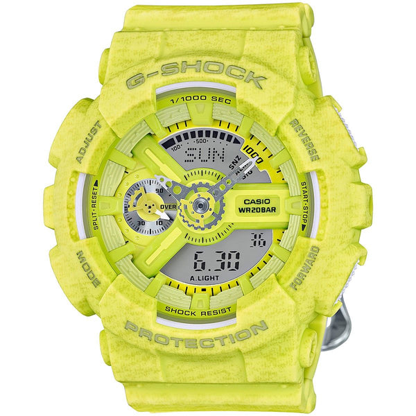 Casio Men's GMAS110HT-9A 'G-Shock' Analog-Digital Yellow Resin Watch