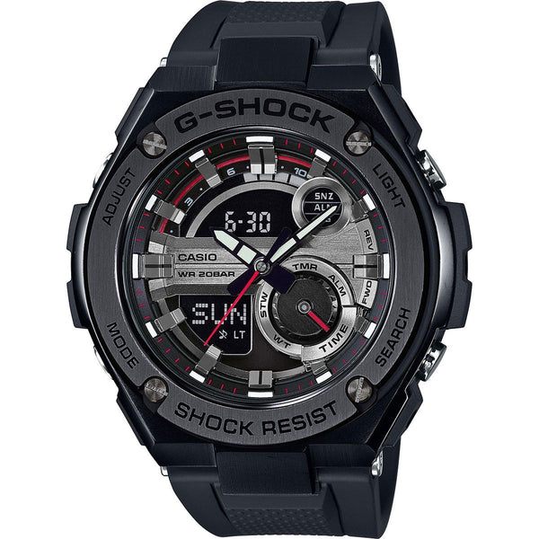Casio Men's GST210B-1A 'G-Shock' Chronograph Analog-Digital Black Resin Watch