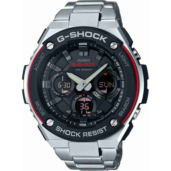 Casio Men's GSTS100D-1A4 'G-Shock' Analog-Digital Stainless Steel Watch