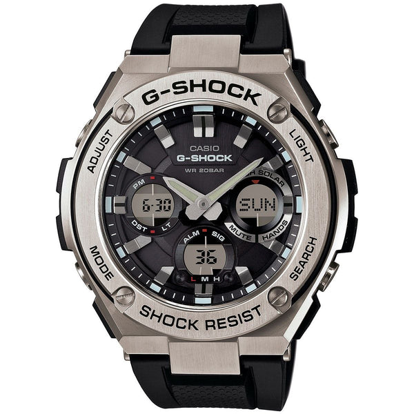 Casio Men's GSTS110-1A 'G-Shock' Analog-Digital Black Resin Watch