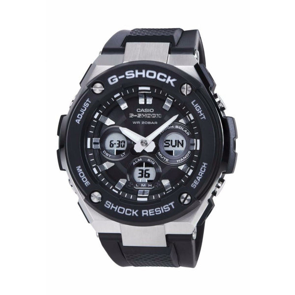 Casio Men's GSTS300-1A 'G-Steel' Black Resin Watch