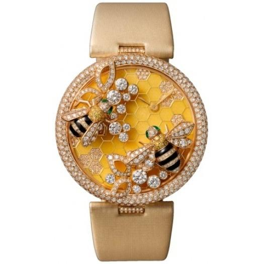 Cartier Women's HPI00480 'Bees Décor' Diamond Yellow Satin Watch