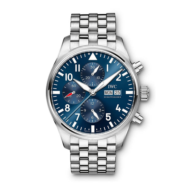 IWC Men's IW377717 'Pilot Le Petit Prince' Chronograph Automatic Stainless Steel Watch