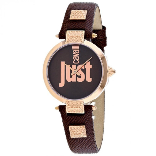 Just Cavalli Women's JC1L076L0045 'Just Mio' Brown Leather Watch