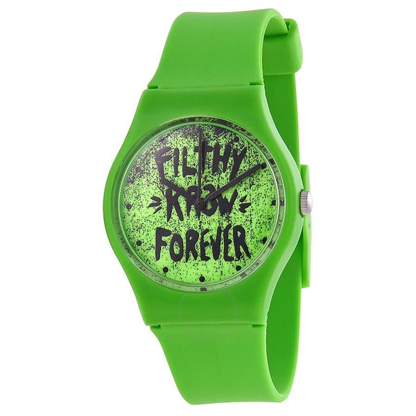 Kr3w Women's K1341GR 'Freshman' Green Silicone Watch