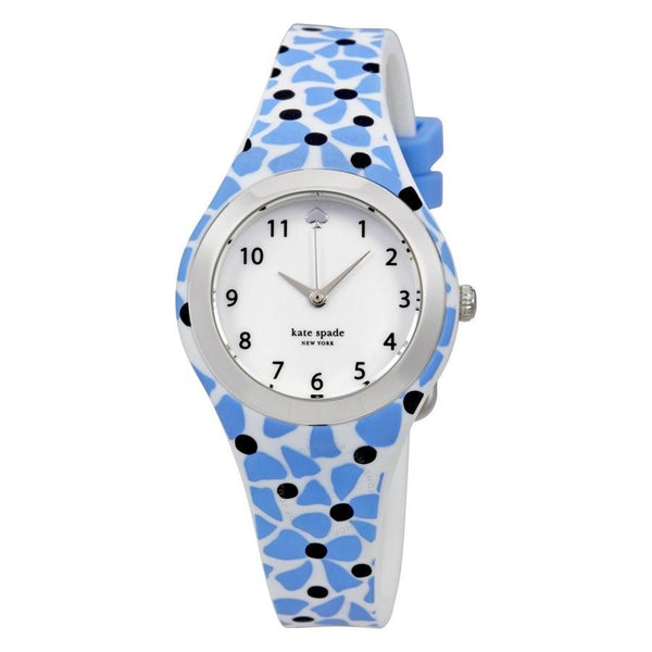 Kate Spade Women's KSW1087 'Rumsey' Floral Blue Silicone Watch