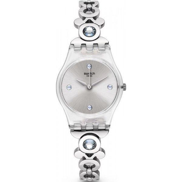 Swatch Women's LK359G 'Classy Dame' Crystal Stainless Steel Watch