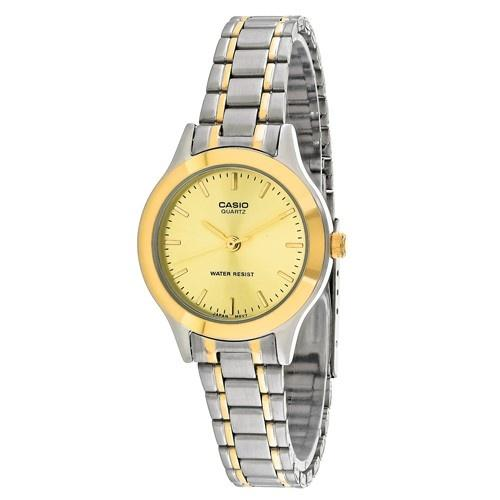 Casio Women's LTP-1128G-9A 'General' Two-Tone Stainless Steel Watch