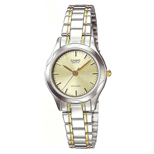 Casio Women's LTP-1275SG-9A 'Classic' Two-Tone Stainless Steel Watch