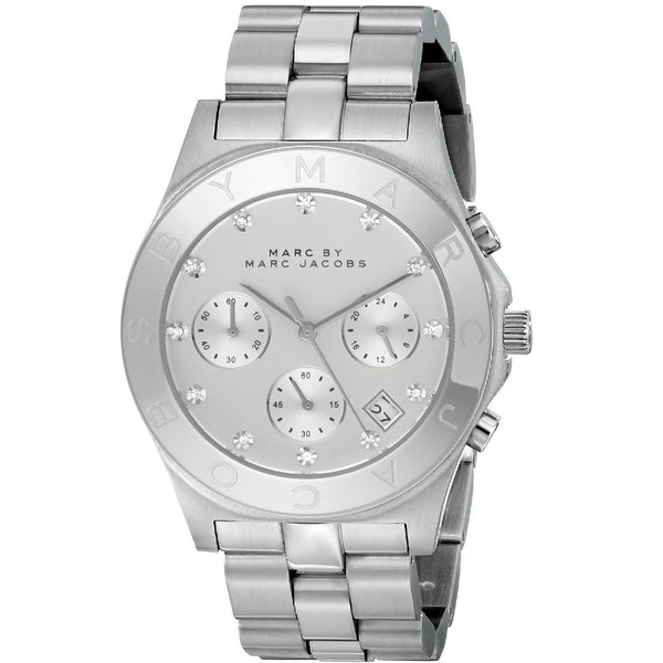 Marc Jacobs Women's MBM3100 'Blade' Chronograph Stainless Steel Watch