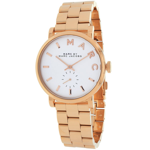 Marc Jacobs Women's MBM3248 'Baker Mini' Rose-Tone Stainless Steel Watch