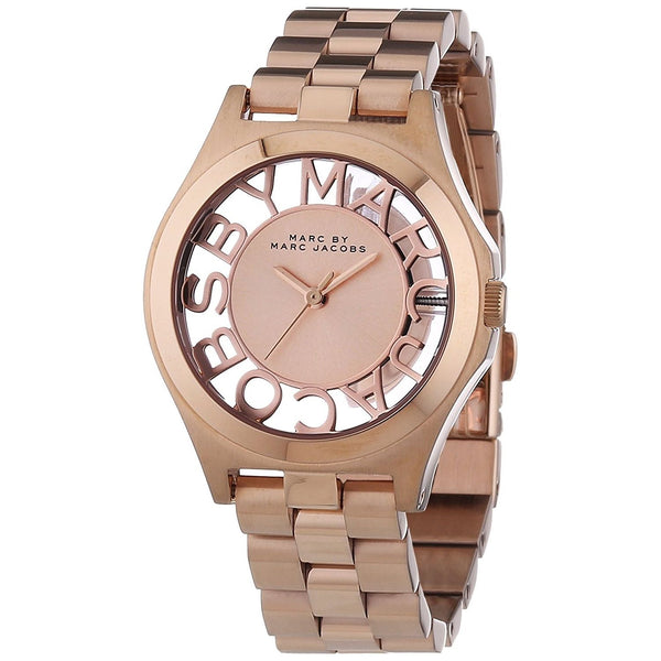 Marc Jacobs Women's MBM3293 'Skeleton' Rose-Tone Stainless Steel Watch