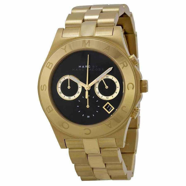 Marc Jacobs Women's MBM3309 'Blade' Chronograph Gold-Tone Stainless Steel Watch