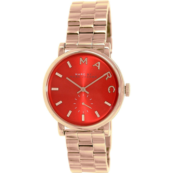 Marc Jacobs Women's MBM3344 'Baker' Rose-Tone Stainless Steel Watch