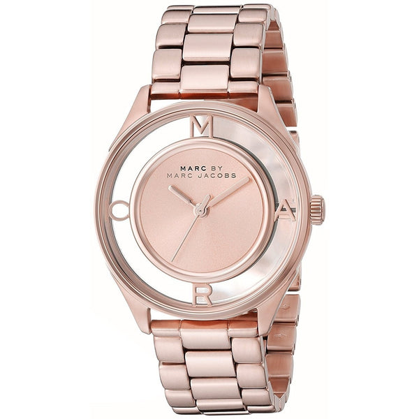 Marc Jacobs Women's MBM3414 'Thether' Rose-Tone Stainless Steel Watch