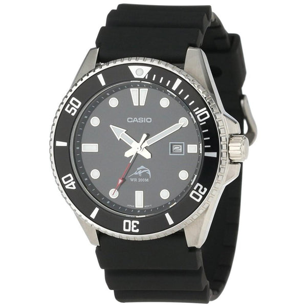 Casio Men's MDV-106-1AV 'Classic' Black Rubber Watch