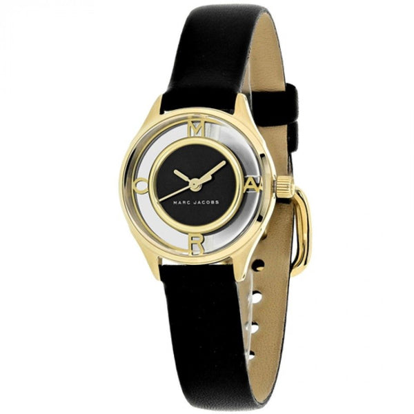Marc Jacobs Women's MJ1381 'Tether' Black Leather Watch