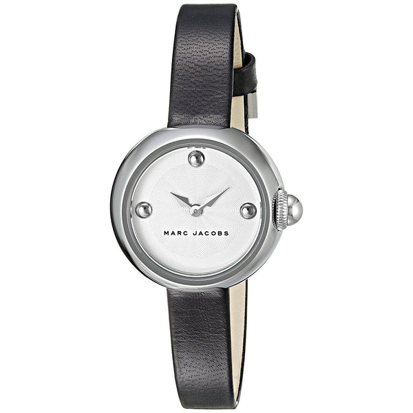Marc Jacobs Women's MJ1430 'Courtney' Black Leather Watch