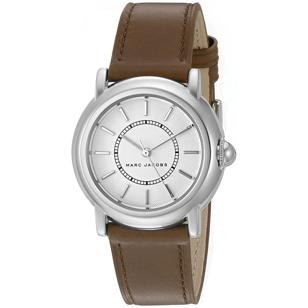 Marc Jacobs Women's MJ1448 'Courtney' Brown Leather Watch