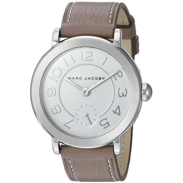 Marc Jacobs Women's MJ1468 'Riley Cement' Brown Leather Watch