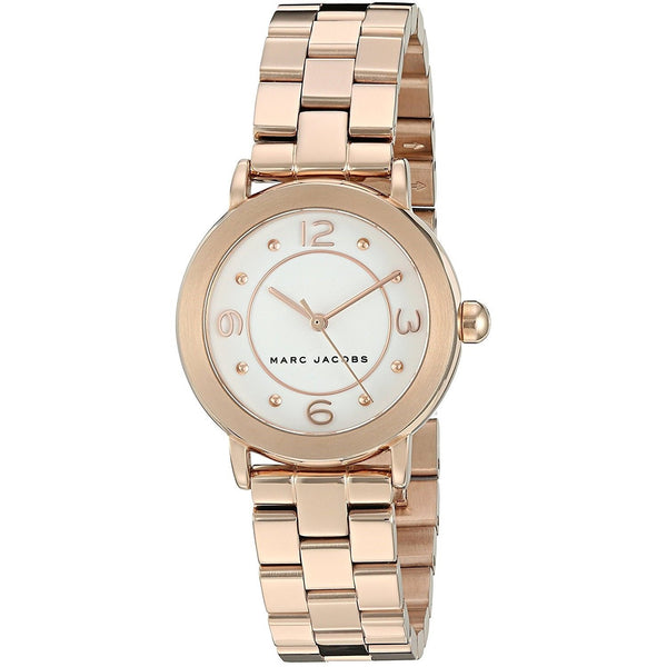 Marc Jacobs Women's MJ3474 'Riley' Rose-Tone Stainless Steel Watch