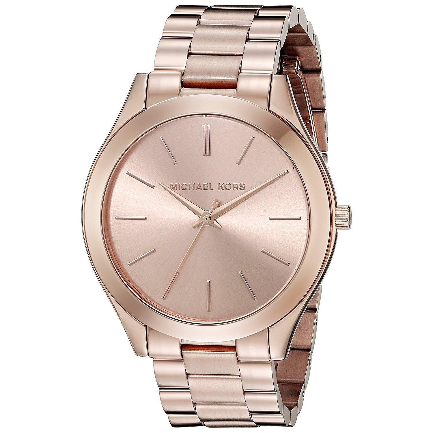 326d7d6c76ea Michael Kors Women s MK3197  Slim Runway  Rose-Tone Stainless Steel ...