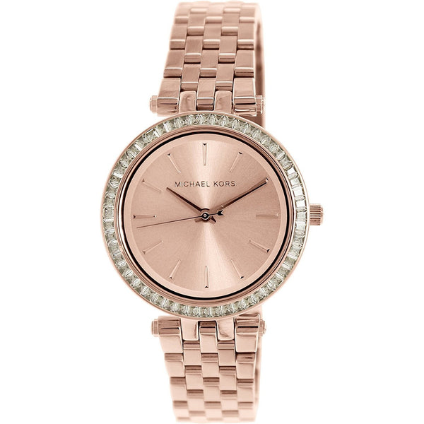 Michael Kors Women's MK3366 'Mini Darci' Rose-Tone Stainless Steel Watch