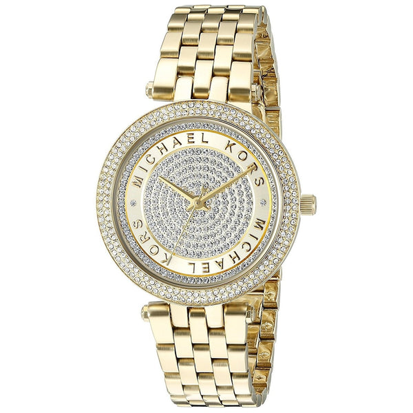 Michael Kors Women's MK3445 'Mini Darci' Crystal Gold-Tone Stainless Steel Watch