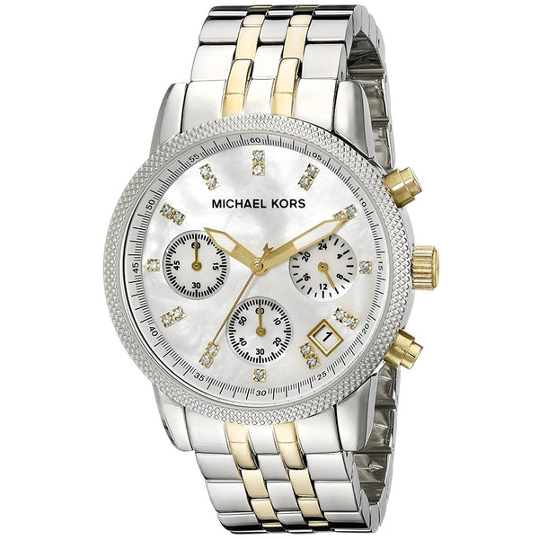 Michael Kors Women's MK5057 'Ritz' Chronograph Crystal Two-Tone Stainless Steel Watch