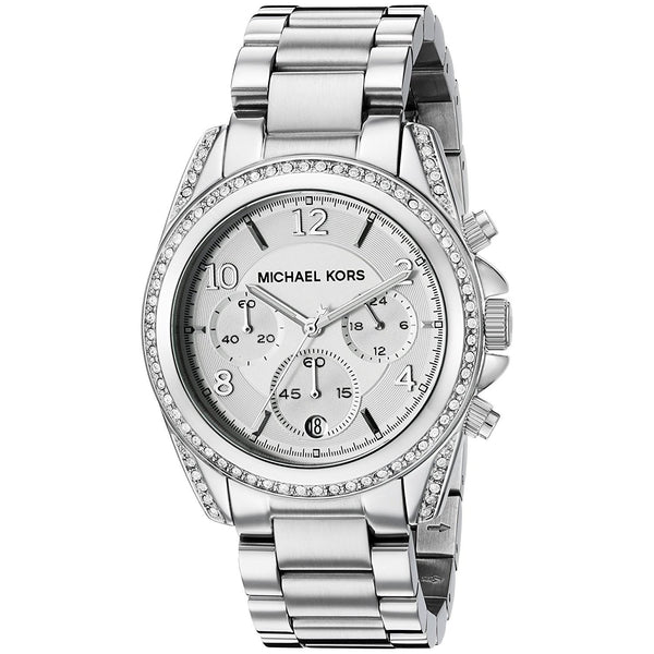 Michael Kors Women's MK5165 'Blair' Chronograph Crystal Stainless Steel Watch